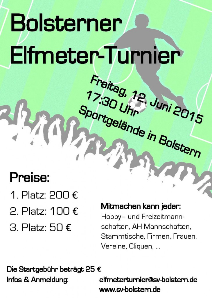 Flyer Elfmetertunier 2015